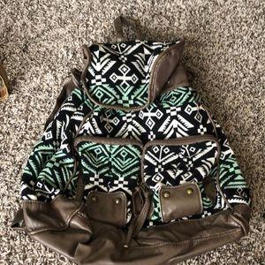Tribal backpack.